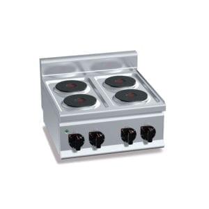 Cuisinière électrique 4 plaques (8kW) à poser