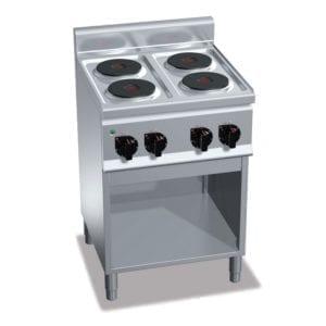 Cuisinière électrique 4 plaques (8kW) sur pieds