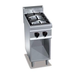 Cuisinière gaz 2 brûleurs (9.5kW) sur pieds
