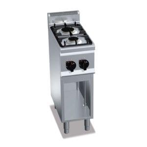 Cuisinière gaz 2 brûleurs (6.2kW) sur pieds
