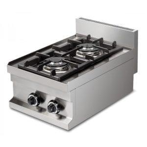Cuisinière gaz 2 brûleurs (7.2kW) à poser