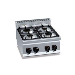 Cuisinière gaz 4 brûleurs (12.4kW) à poser