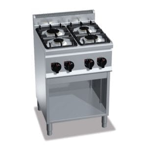 Cuisinière gaz 4 brûleurs (12.4kW) sur pieds