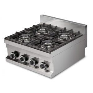 Cuisinière gaz 4 brûleurs (14.4kW) à poser