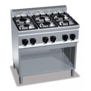 Cuisinière gaz 6 brûleurs (18.6kW) sur pieds