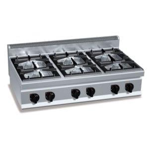 Cuisinière gaz 6 brûleurs (33.5kW) à poser