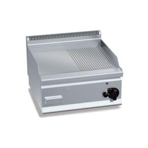 Plaque de cuisson gaz 596 x 430 mm lisse et rainurée
