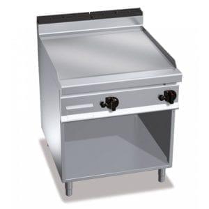 Plaque de cuisson gaz lisse 796 x 667 mm sur pieds