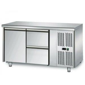 Table réfrigérée 700 / 1 porte + 2 tiroirs