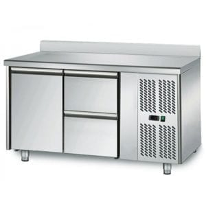 Table réfrigérée 700 / 1 porte + 2 tiroirs adossés