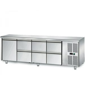 Table réfrigérée 700 / 1 porte + 6 tiroirs