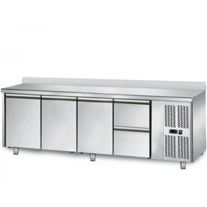 Table réfrigérée 700 / 3 portes + 2 tiroirs adossés
