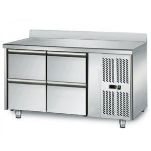 Table réfrigérée 700 / 4 tiroirs adossés