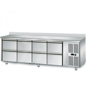 Table réfrigérée 700 / 8 tiroirs adossés