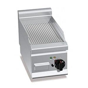 Plaque de cuisson électrique 296 x 430 mm rainurée