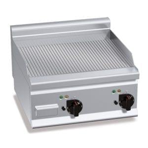 Plaque de cuisson électrique 596 x 430 mm rainurée