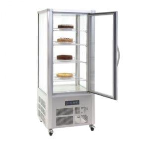 Vitrine à pâtisserie 400L - Inox