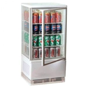 Vitrine réfrigérée de comptoir 68L - Blanche