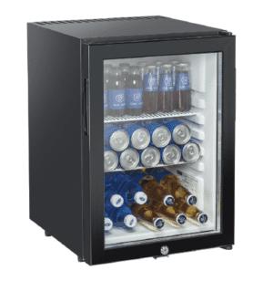 Mini bar porte vitrée 34 boissons