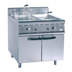 Friteuse gaz sur coffre 700 - 2 x 20 litres